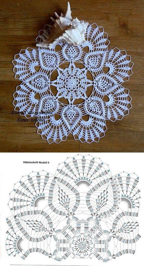 Pin von Sonia Solís auf crochet ypalillos   Pinterest   Deckchen ...