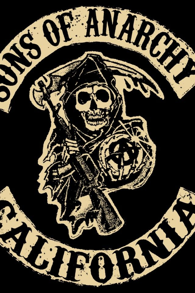 Download Wallpaper 640x960 Sons Of Anarchy Tv Series Logo California Iphone 4s 4 Hd Background Sons Of Anarchy Tattoos Sons Of Anarchy Anarchy