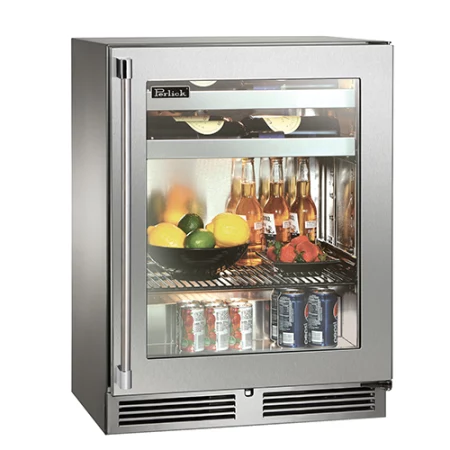 Perlick Hh24bs 3 2l Panel Ready 24 Inch Wide 10 Bottle And 41 Can Capacity Built In Wine And Beverage Cooler With Rapidcool Forced Air System And Left Swing Doo Beverage Center Wine Coolers Drinks