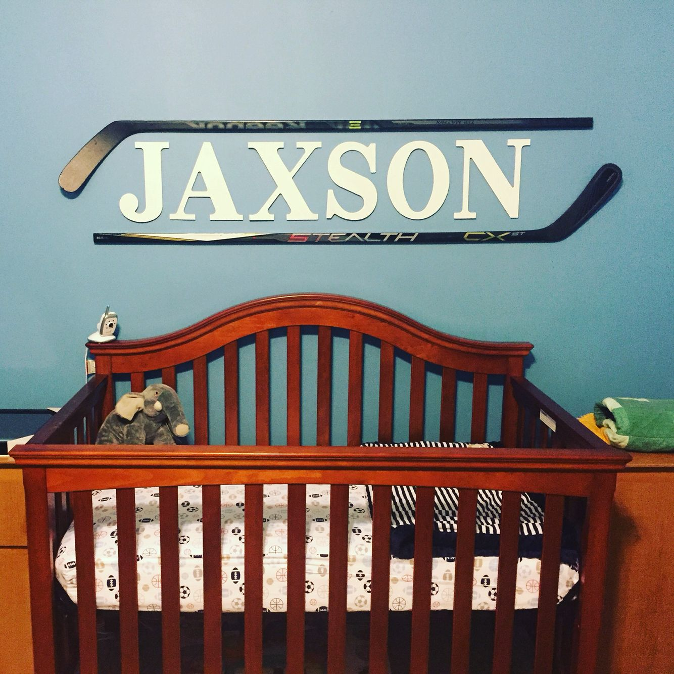 Boys hockey bedroom ideas - If A Boy Hockey Stick Art