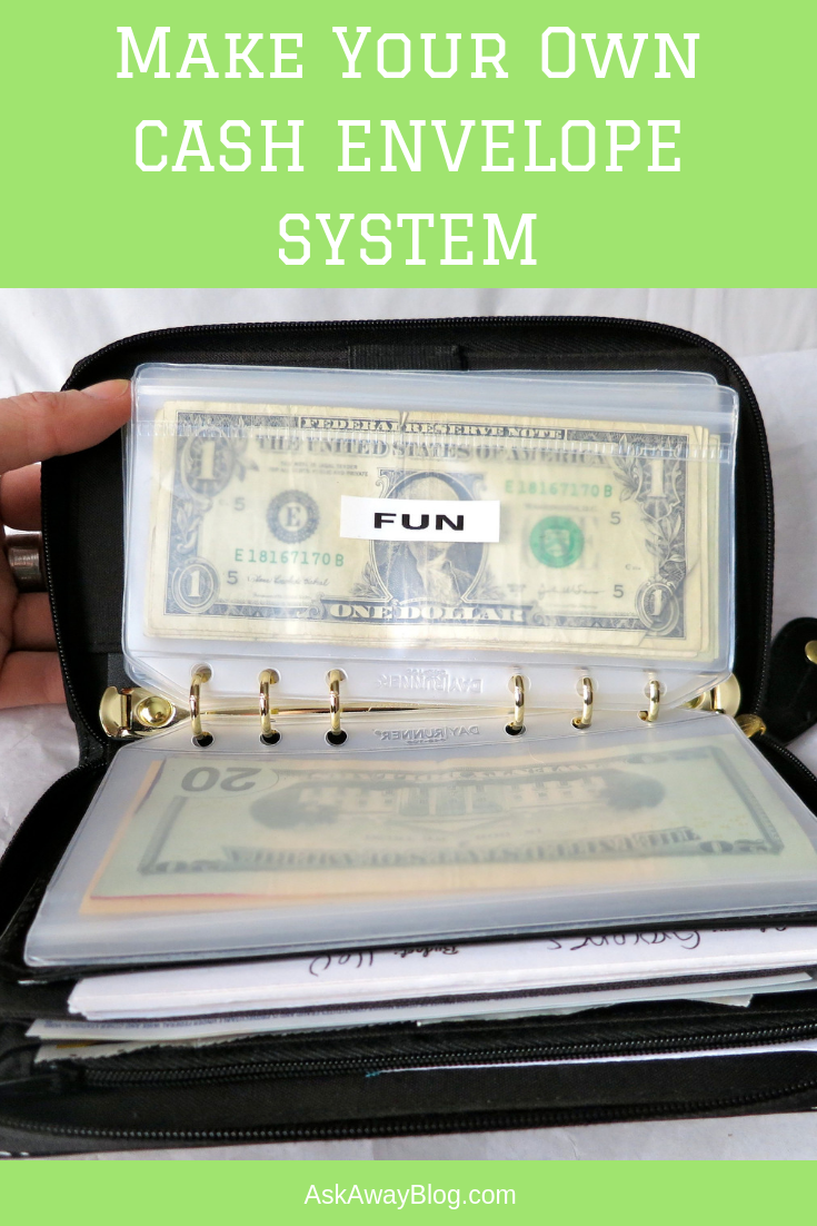Ask Away Blog: A Look at My Filofax Budget Envelope System