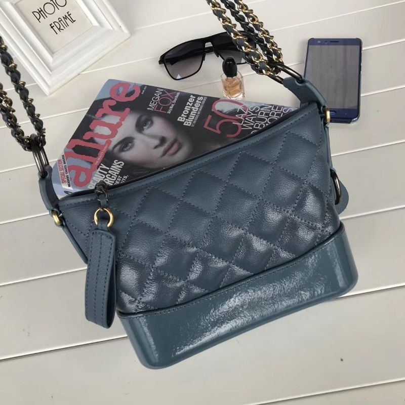 Women Handbag Calfskin Leather Gabrielle Small Hobo Bag Shoulder Bags Light  Blue 08f575fd946ed