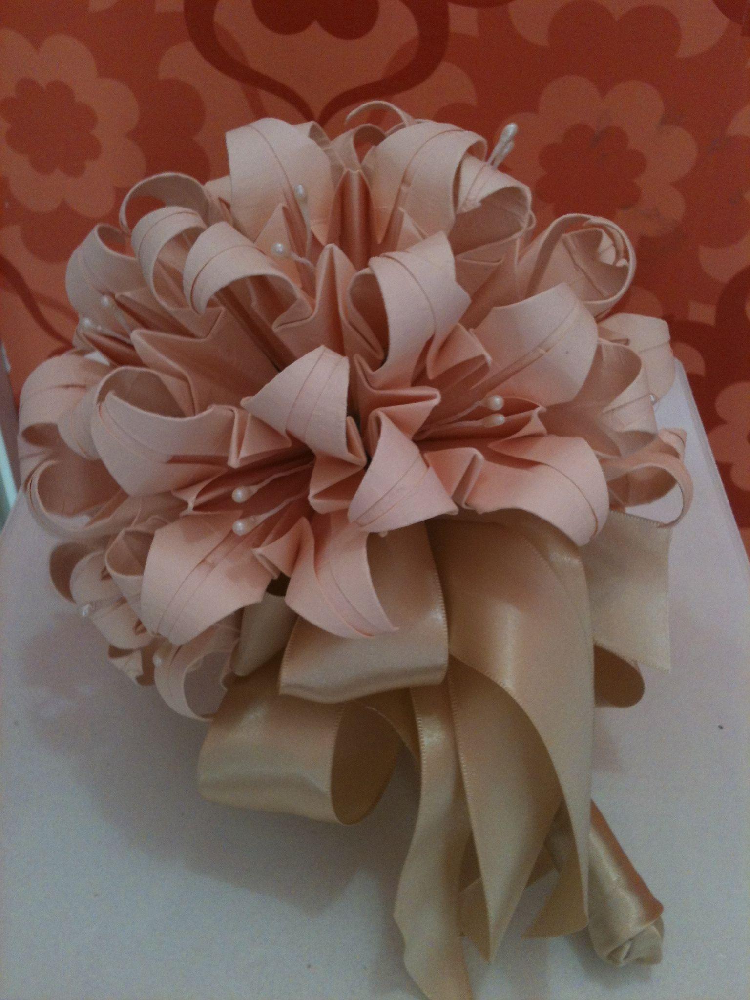 Buque de noiva  origami  Casamento  buque  Pinterest  Origami
