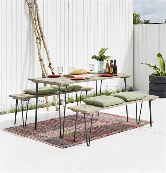 PLUS - Retro - møbelsæt - bord - bænke - inspiration - terrasse ...