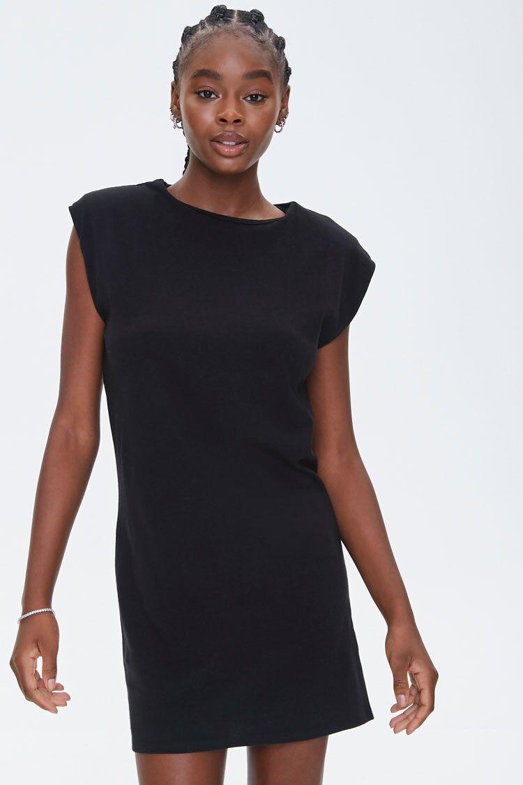 Shoulder Pad T Shirt Dress Forever 21 Shirt Dress T Shirt Dress Dresses [ 1125 x 750 Pixel ]
