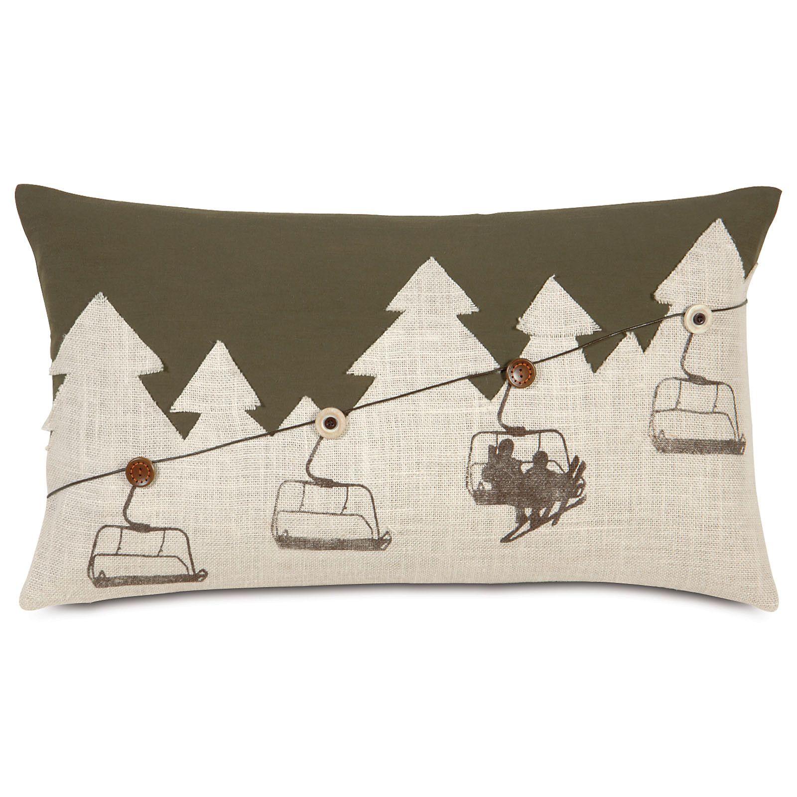 Eastern Accents Ski Lodge Up Lift Lumbar Pillow Ski House Decor Ski Lodge Decor Ski Decor