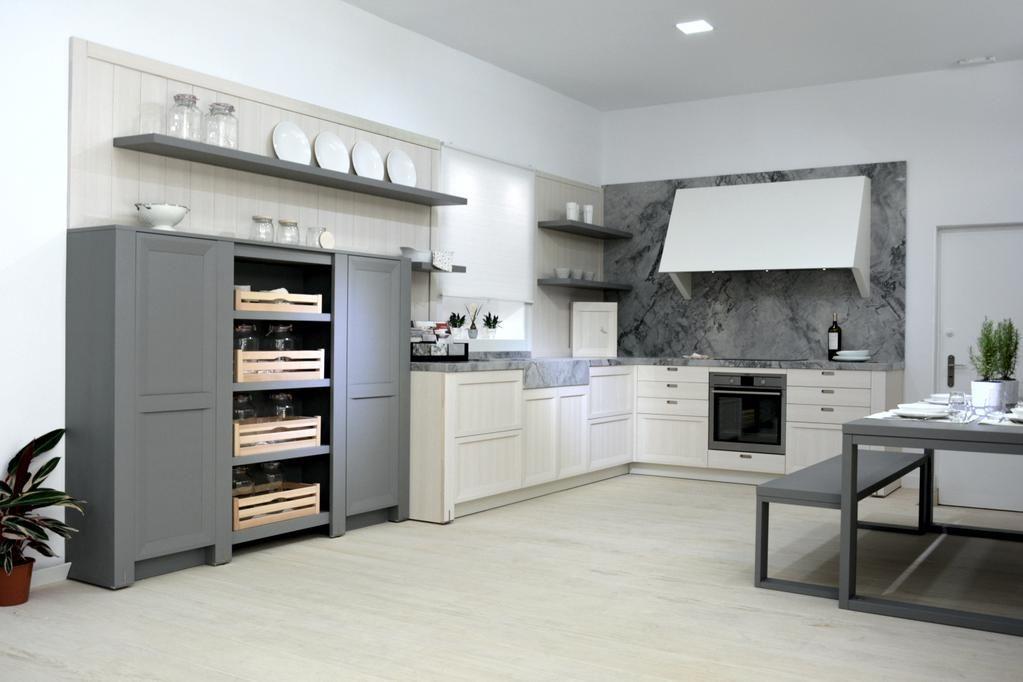 cocina con encimera naturamia portobello y suelo techlam woods aspen by abaco cocinas