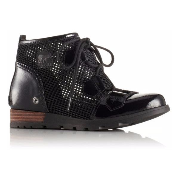 Major Lace Mesh ($130) ❤ liked on Polyvore featuring shoes, sorel, military shoes, mesh shoes, lace shoes and polish shoes