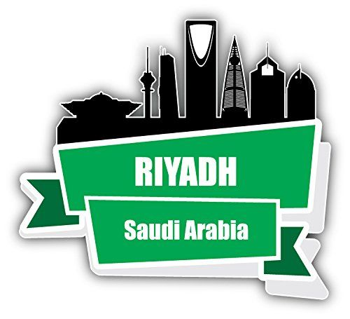 Riyadh city silhouette saudi arabia travel art decor bumper sticker 5 x 5 read more