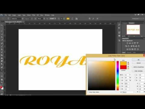 How To Change Text Color In Photoshop Cs6 Tutorial 2016 Photoshop Cs6 Change Text Text Color