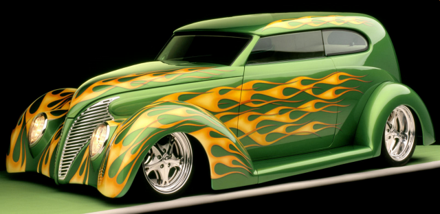 Green Wsw Car In Classic Style With Yellow Patterns Png Hi Res 1080p Hd In 2021 Retro Cars Hot Rods Cars Muscle Cool Car Backgrounds