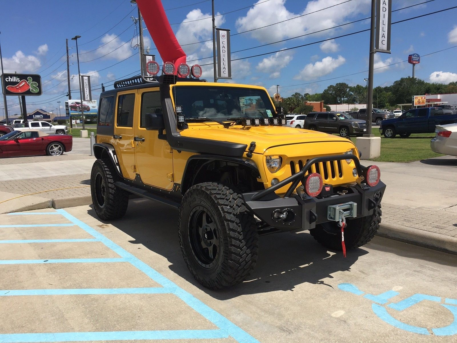 Car Brand Auctionedjeep Wrangler Unlimited Rubicon 2015 Model Jeep Door View 4 Customized Only 625 Miles Wd