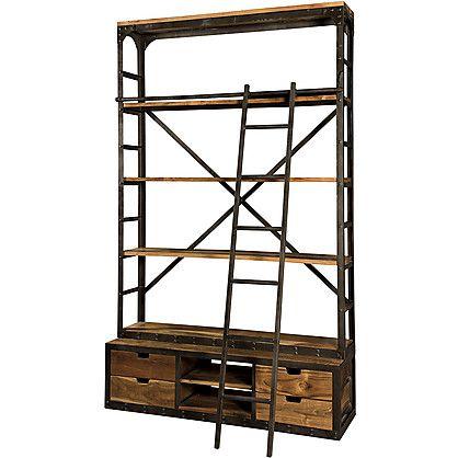 Risultati immagini per libreria ferro e legno