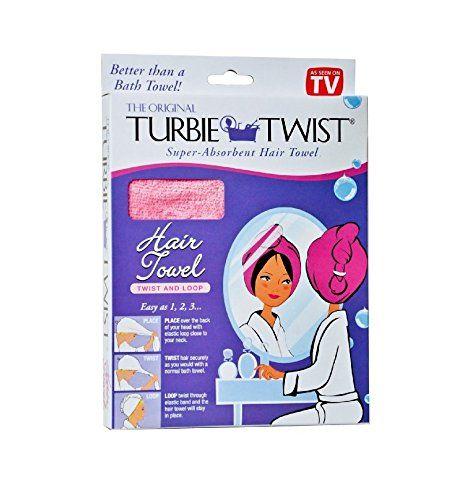 Turbie Twist Super Absorbent Hair Towel Microfiber Loop Colors May Vary