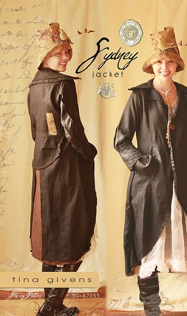 the Sydney Jacket/ Duster pattern by Tina Givens | patterns I have ...