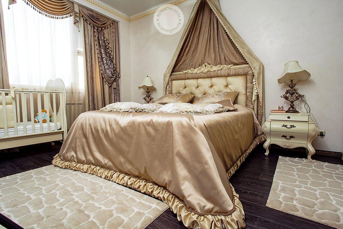 Дизайн покрывал и штор в спальню фото