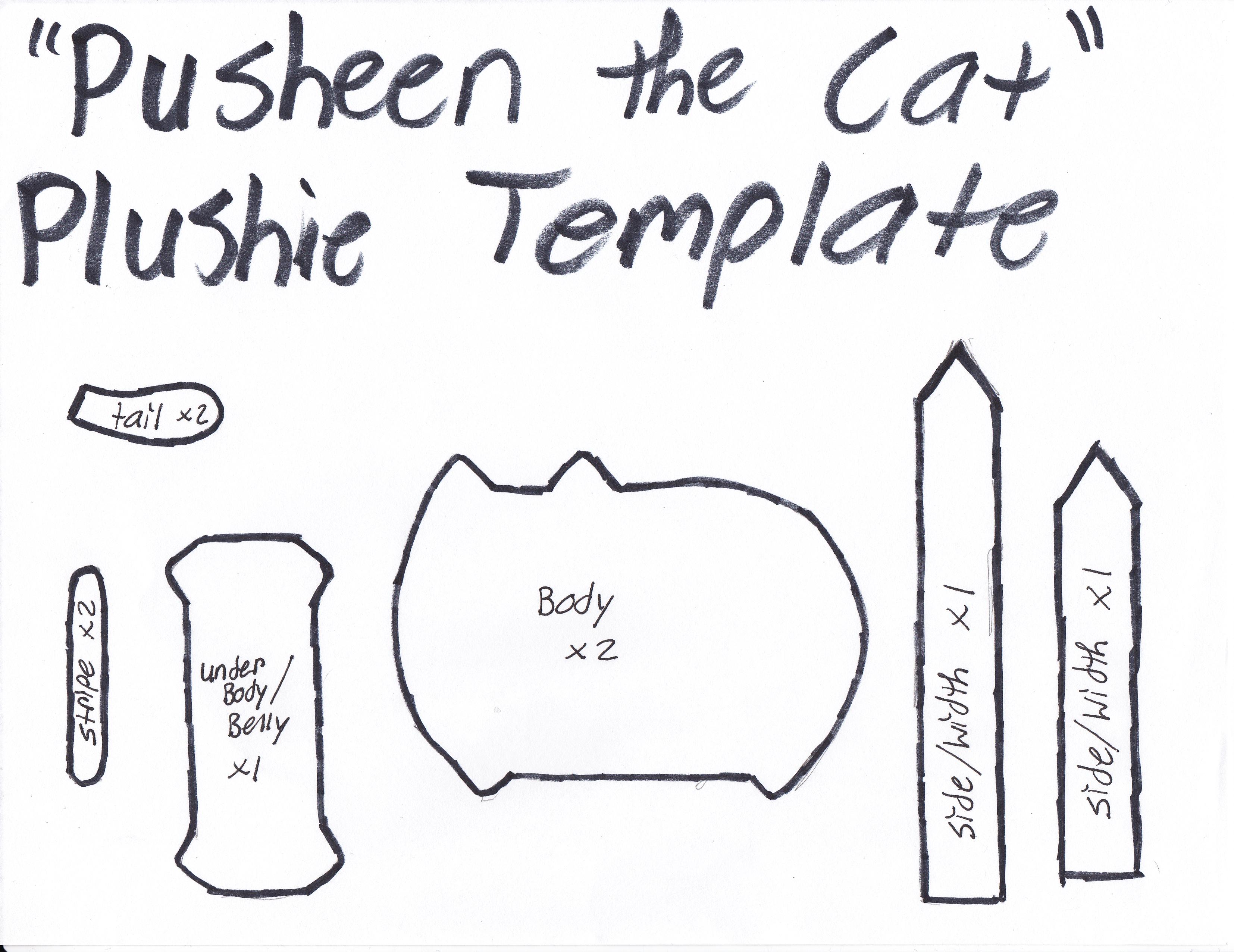 Schnitt für Pusheen | being creative | Pinterest | Nähen, Tiere ...