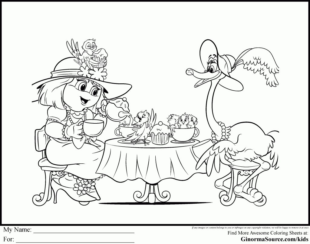 Oogielove Coloring Pages Teaparty | Coloring Pages | Pinterest