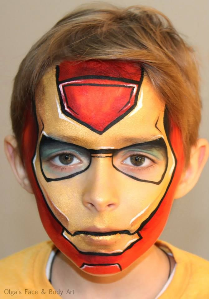 Here_is_my_version_of_Iron_Man | Face painting easy ...