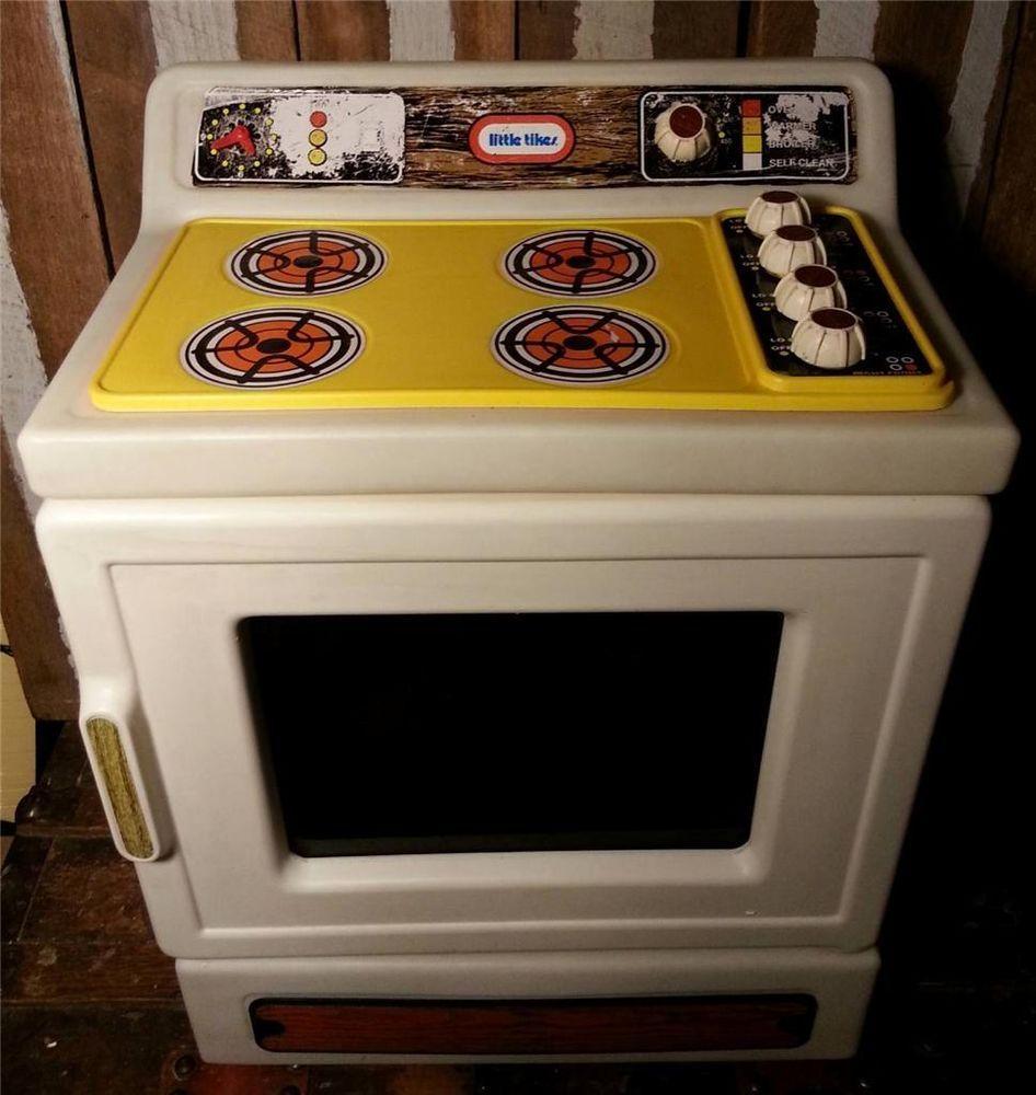 Vintage Little Tikes Child Size Pretend Play Kitchen Stove Oven Stove Range #LittleTikes