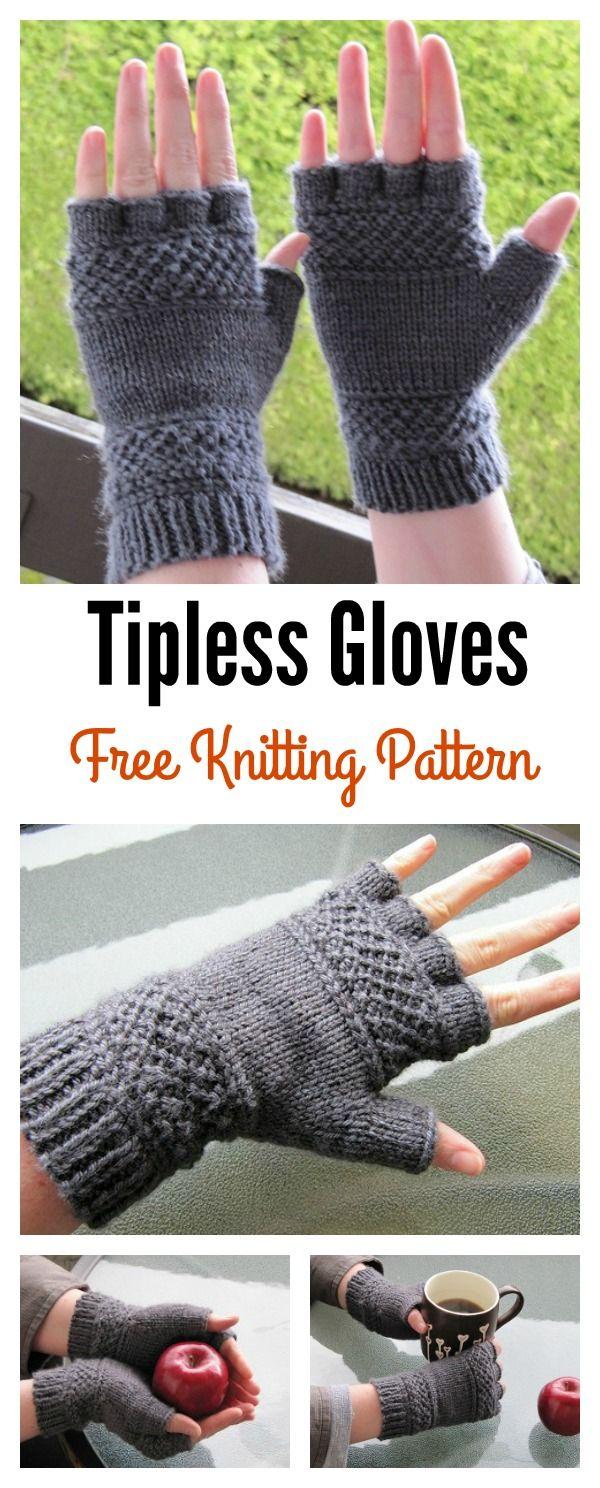 Tipless Gloves Free Knitting Pattern | Knitting | Pinterest ...