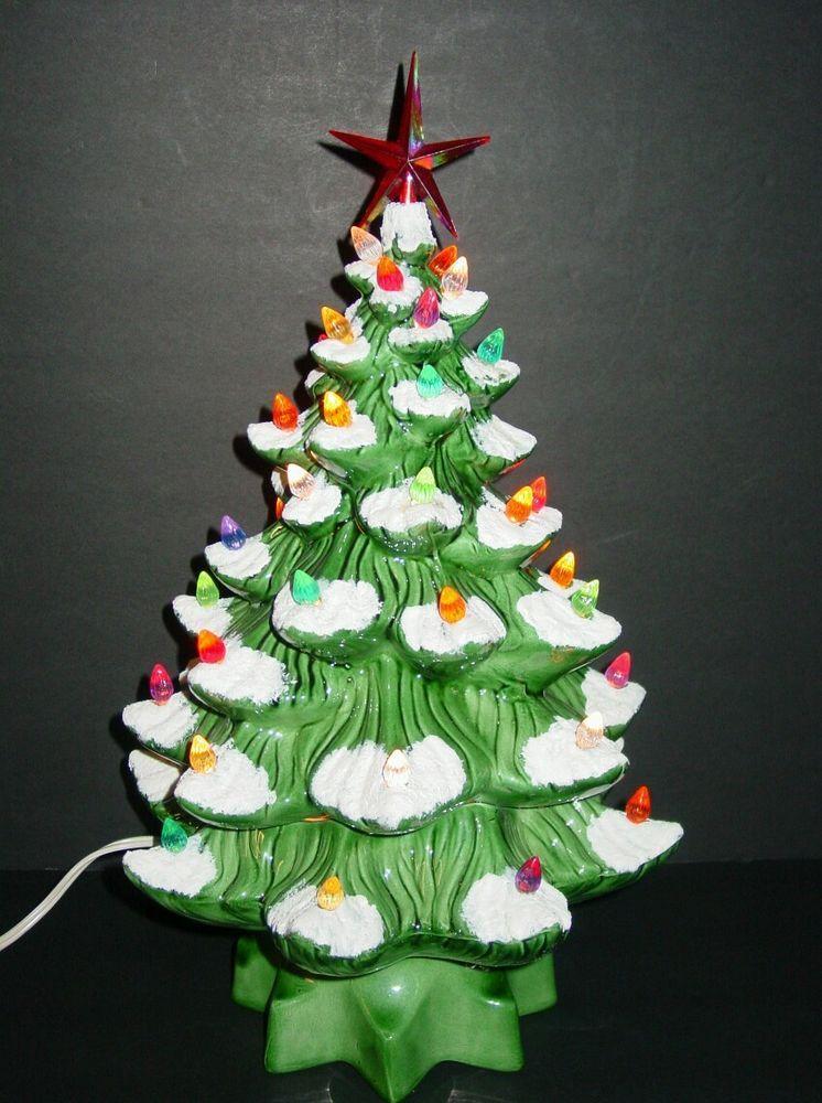 VTG LIGHTED CERAMIC CHRISTMAS TREE - 17\