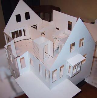 Building Architectural Models 3d House Models Architecture Model Architecture Model Making Cardboard Model