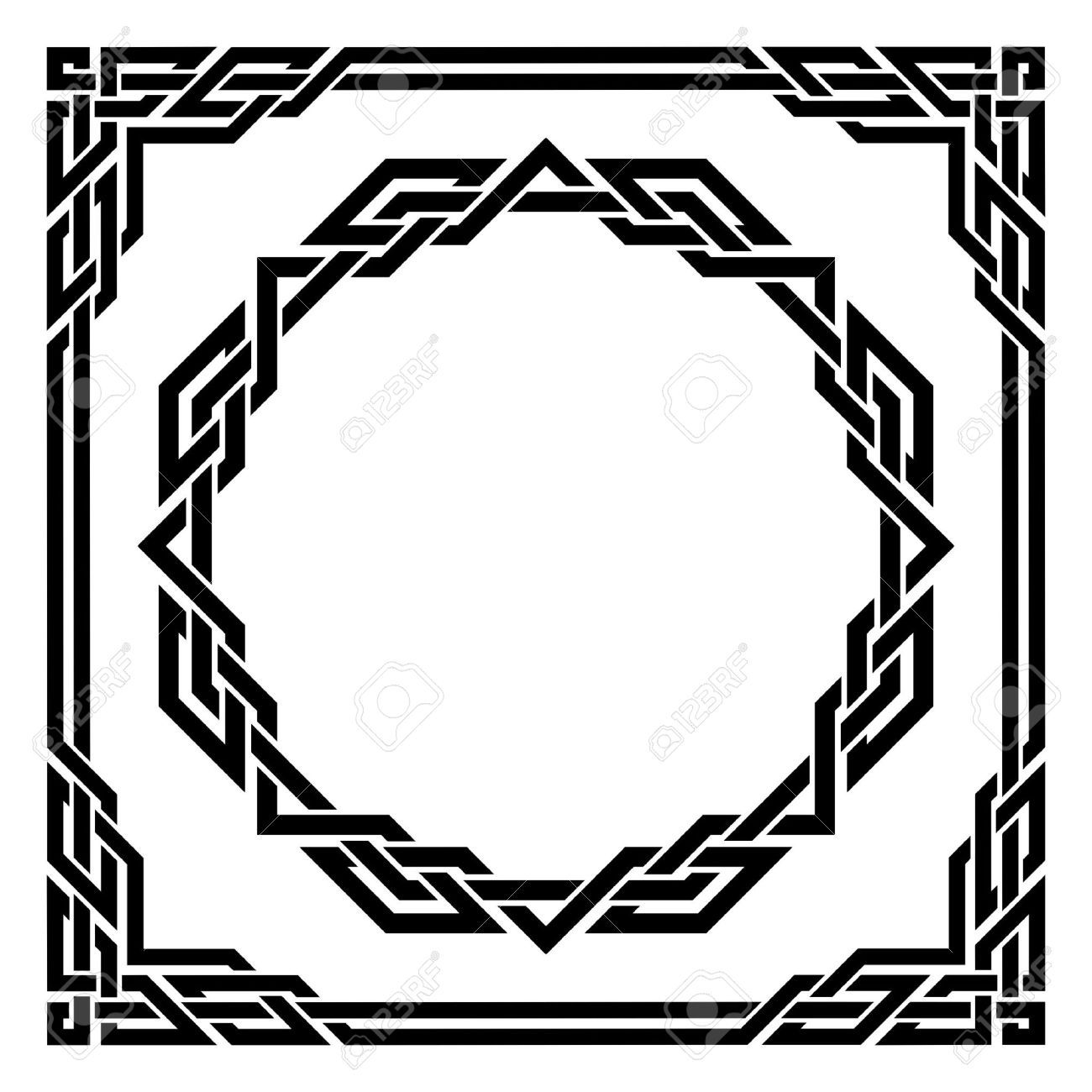 Polyvine celtic wall border stencil wall borders stenciling and celtic border images stock pictures royalty free celtic border amipublicfo Gallery