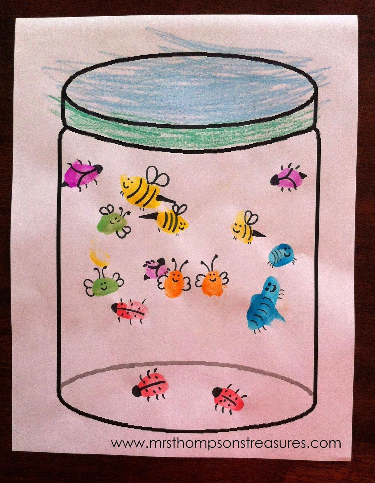 Fingerprint bug jars jars the jar and stamps for Jar crafts