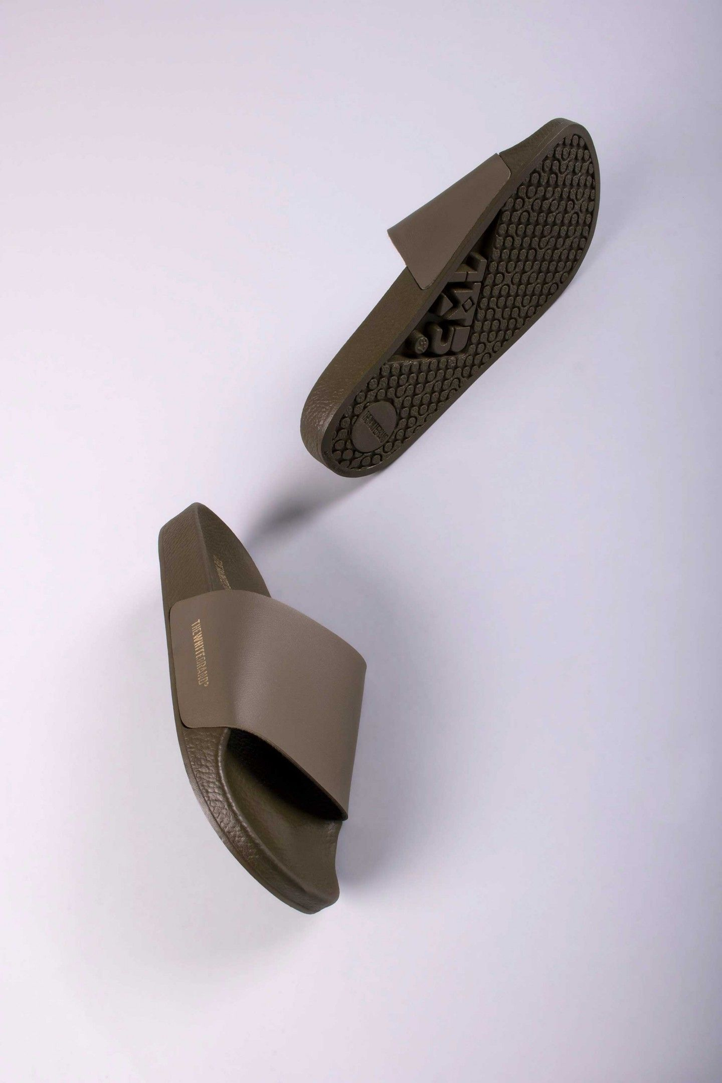 9cbe41c2d MINIMAL ARMY - TheWhiteBrand SS 18 New Collection. Women s flat slide  sandal in army