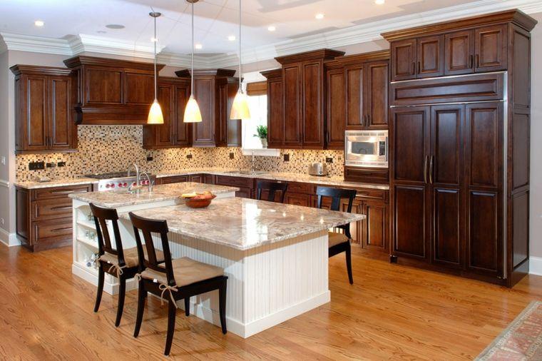 Original dise o cocina isla retro interiores para cocina - Ver disenos de cocinas ...