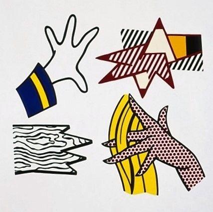 Roy Lichtenstein, study of hands ,corlett -1981 on ArtStack #roy-lichtenstein…