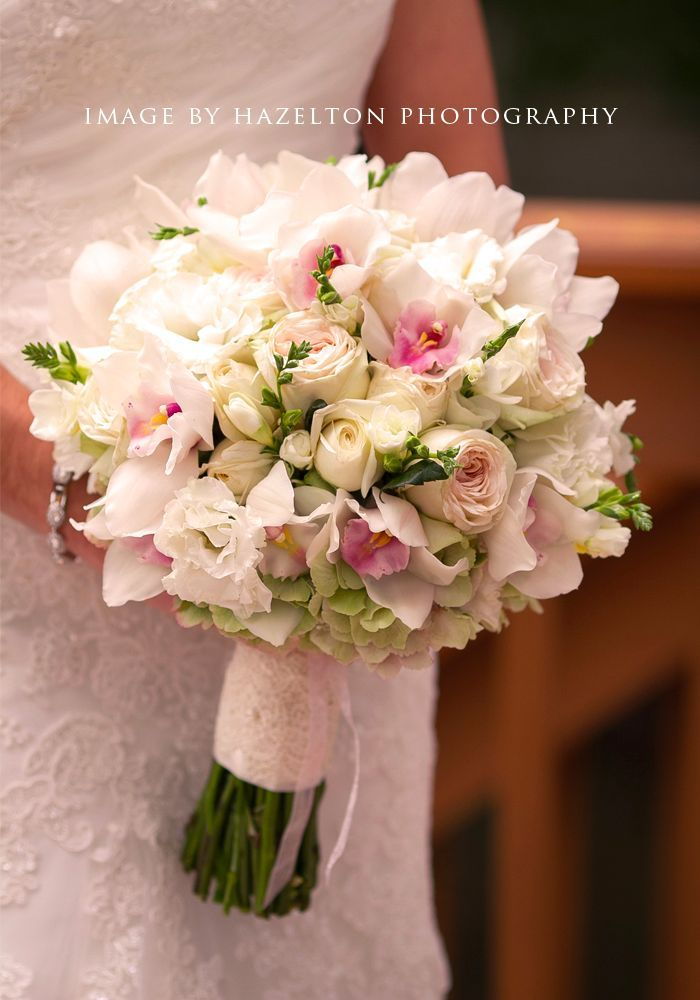 Featured Bouquet | White Orchid And Garden Rose Bouquet | Geneva Wedding  Florist