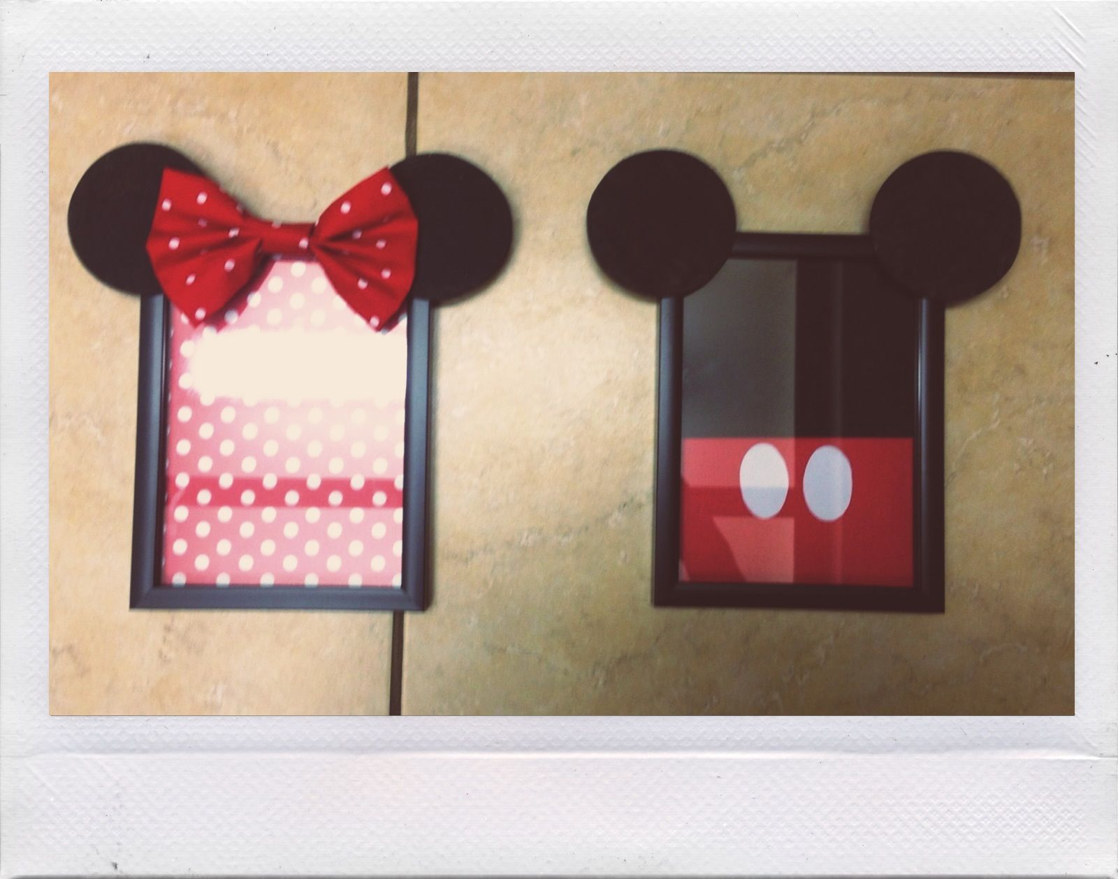 Diy Mickey And Minnie Frames Made Mickey Decorations Diy