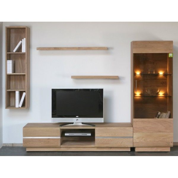 meuble tv bois chez moi modulares hogar et espacio. Black Bedroom Furniture Sets. Home Design Ideas