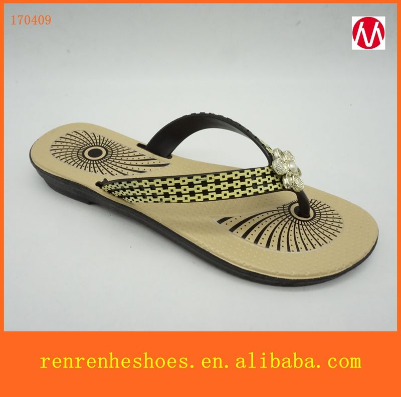 65bdc4d79dd6f 2017 cheap price for black blowing pvc slippers for women with new design
