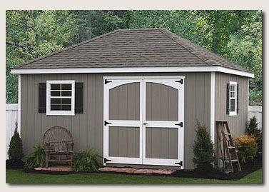 hip roof cabana storage shed