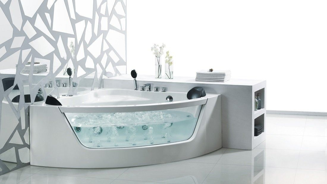 Roxanne Corner Spa Bath Henry Brooks Bathrooms » Archipro | Bathroom ...