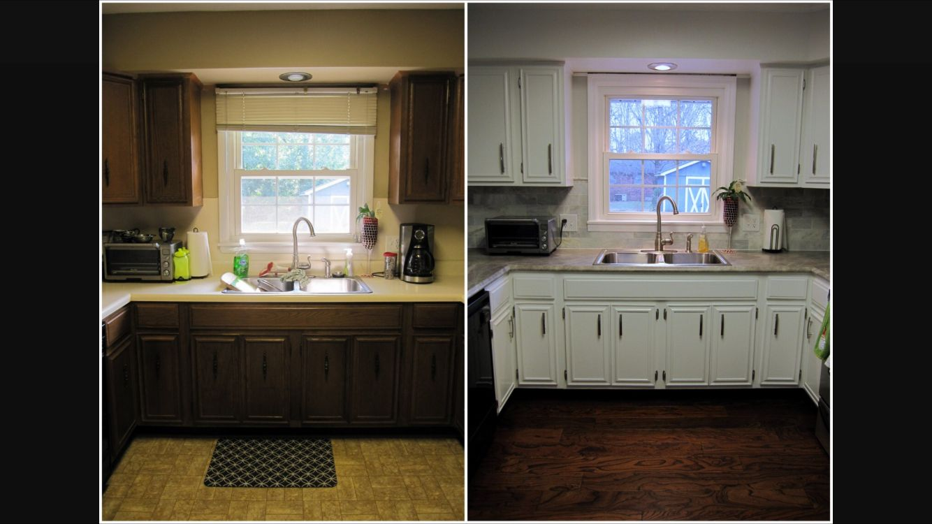 Before And After With Formica 180fx Soapstone Sequoia Kitchen Cozy Space Kitchen Cabinets