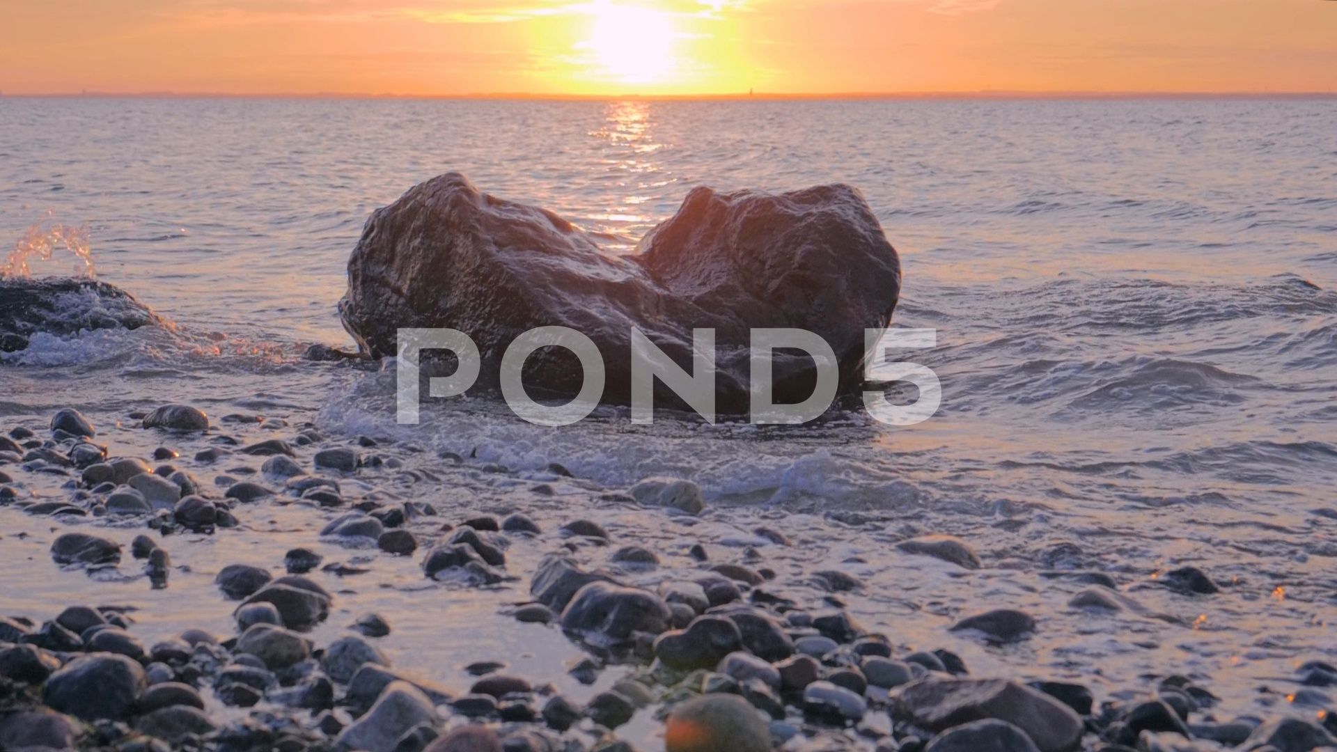 Rocky Ocean Shore At Sunset Stock Footage Ad Shore Ocean Rocky Footage Ocean Shores Ocean Sunset