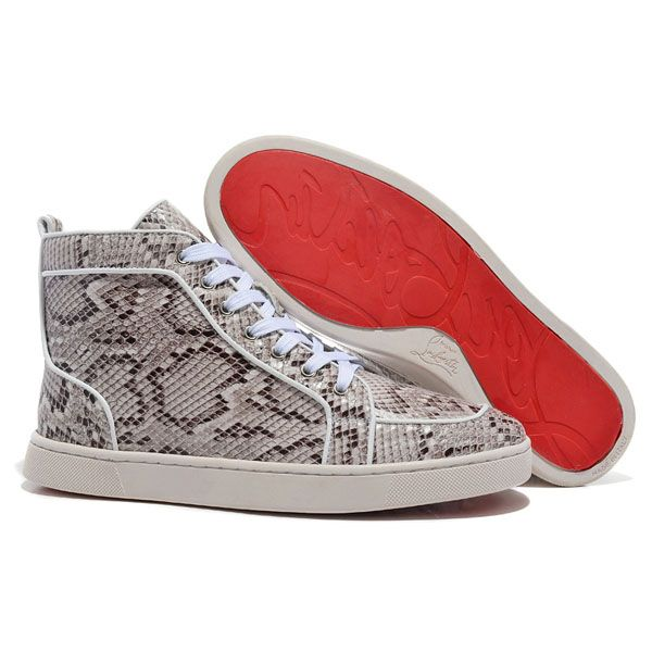 43f72b424d5 Christian Louboutin Louis High Top Snakeskin Red Sole Sneakers,Red ...