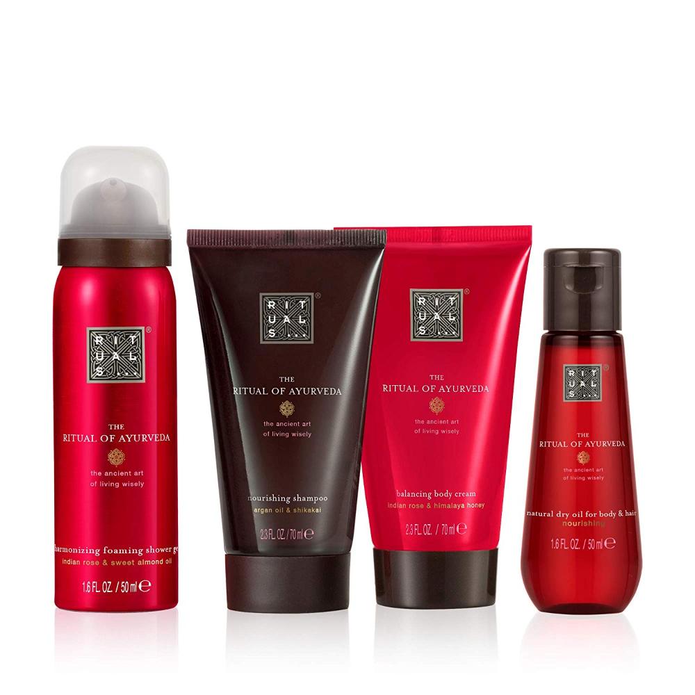 Amazon Com Rituals The Ritual Of Ayurveda Gift Set Small Balancing Treat 10 14 Fl Oz Luxury Beauty Dry Body Oil Ayurveda Luxury Beauty