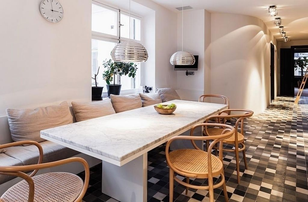 dining room table with sofa seating for nifty sofa in dining room rh pinterest com Low Sofa Seating Settee for Dining Room Table