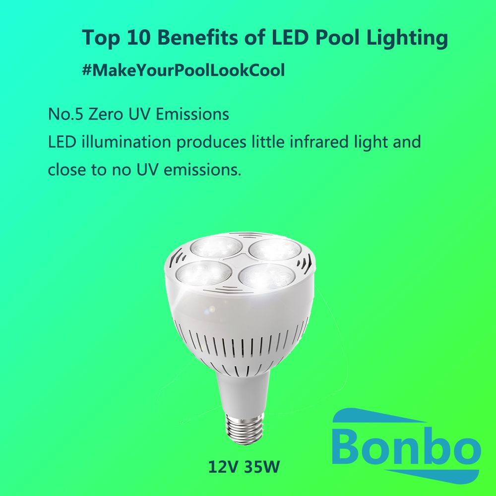Top 10 Benefits Of Led Pool Lighting No 5 Zero Uv Emissions Another Reason To Choose Led Pool Lights Give You More Pro Led Pool Lighting Pool Lights 10 Things