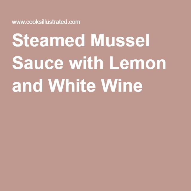 Steamed Mussel Sauce with Lemon and White Wine
