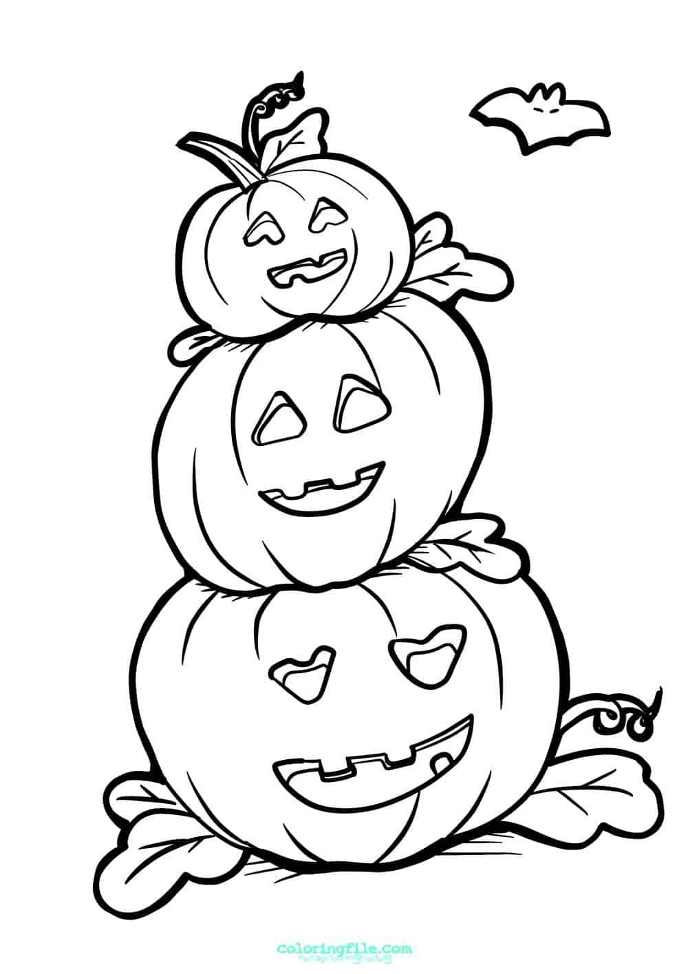 Free Printable Pumpkin Coloring Pages For Kids Pumpkin Coloring Pages Pumpkin Coloring Sheet Halloween Coloring Sheets