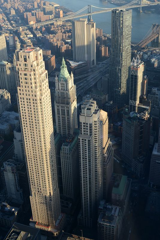 24 30 Park Place Woolworth Building Barclay Tower New York By Gehry The Beekman Close Up F New York City Buildings New York Architecture Woolworth Building