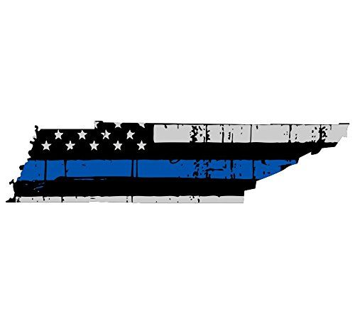 Tennessee Tattered Thin Blue Line Us Flag Honoring Our Men Women Of