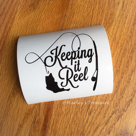 Fishing Decal Keeping It Reel Fishing Monogram Vinyl Decal - Custom vinyl decals for crafts