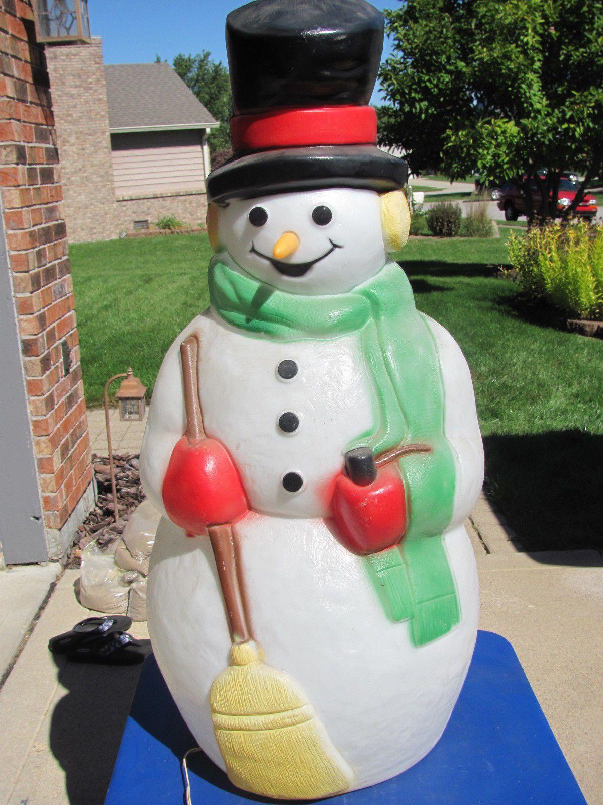 38 empire snowman carrot nose xmas blowmold light up plastic 38 empire snowman carrot nose xmas blowmold light up plastic outdoor decor vtg ebay workwithnaturefo